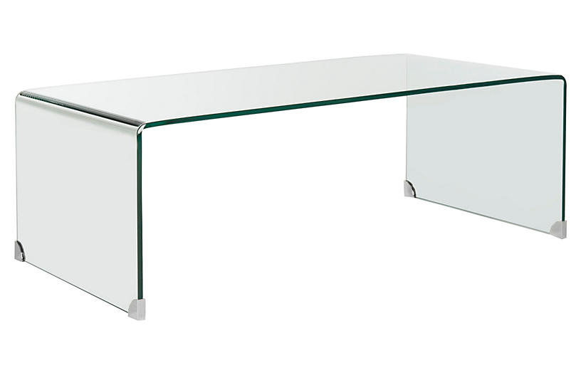 lbl.alttext.altThumbnailImage ? - Wheelan Waterfall Coffee Table, Glass - Coffee Tables - Living